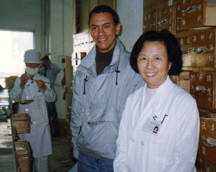 Yosef completing an Herbal Study Program with Dr Hu  Sino Japanese Friendship Hospital, Beijing China 1998